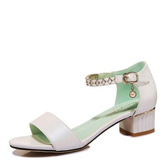 Women's Chunky Heel Peep Toe Sandals