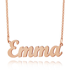 Christmas Gifts For Her - Custom 18k Rose Gold Plated Letter Name Necklace (288217712)