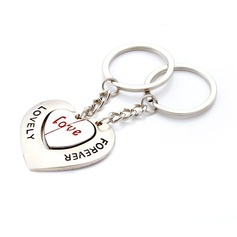 "Personalized ""Lovely Forever"" Stainless Steel Keychains"