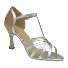 Women's Leatherette Heels Sandals Latin With Hollow-out Dance Shoes