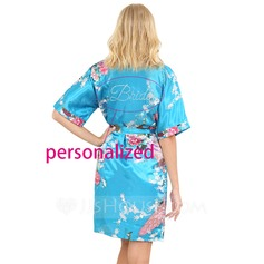 Personalized Polyester Printed  Bride Robe (12 letters or less)