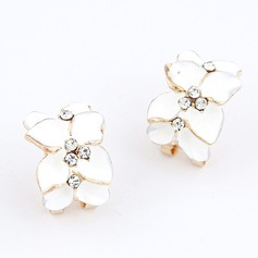 Elegant Alloy With Rhinestone Ladies' Earrings