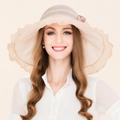 Ladies' Classic Silk With Silk Flower Floppy Hat