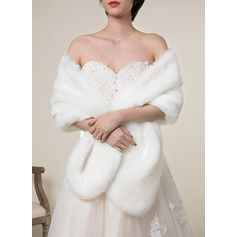 Faux Fur Wedding Shawl (013224114)