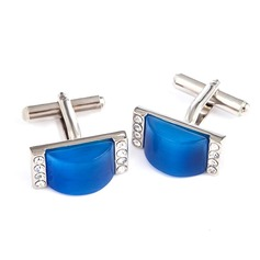 Classic Simple Zircon Cufflink