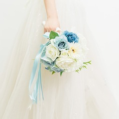 Delicate Free-Form Satin Bridal Bouquets/Bridesmaid Bouquets -
