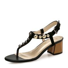Frauen Veloursleder Stämmiger Absatz Sandalen Absatzschuhe Peep Toe Slingpumps mit Niete Schuhe