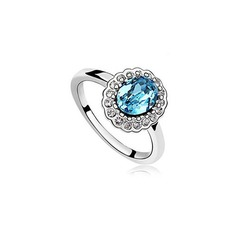 Beautiful Alloy With Imitation Crystal Women's Fashion Rings