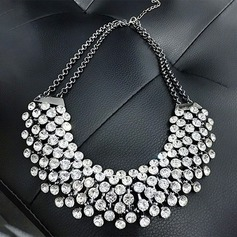 Shining Alloy Rhinestones With Rhinestone Ladies' Fashion Necklace (Sold in a single piece)