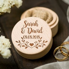 Personalized/Woodland Wood Ring Box