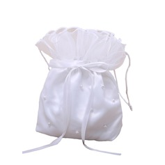 Satin With Imitation Pearls/Bow Handbag