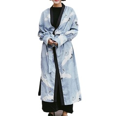 Bride Bridesmaid Polyester With Ankle-Length Kimono Robes