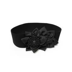 Fashional Satin Belt With Flower/Imitation Pearls