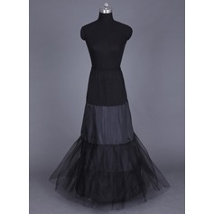 Women Tulle Netting/Lycra Floor-length 2 Tiers (037041512)