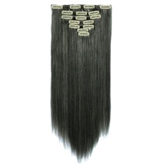 Straight Synthetic Hair Clip in Hair Extensions 7pcs 130g