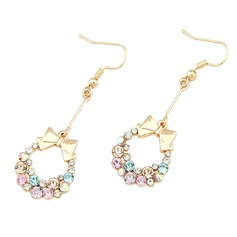 Christmas Wreaths Alloy/Rhinestones Ladies' Earrings