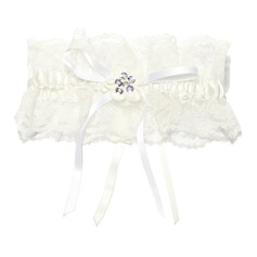 Chic Lace With Flower Wedding Garter Skirt