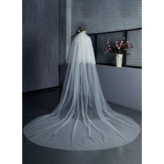 Two-tier Cut Edge Cathedral Bridal Veils (006125299)