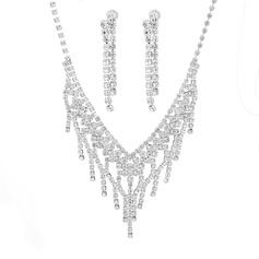 Ladies' Chic Rhinestones With Cushion Jewelry Sets