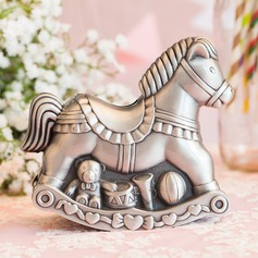 Lovely Hobbyhorse Shaped Tin Alloy Money Box