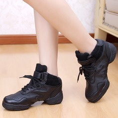 Women's Kids' Real Leather Sneakers Practice Dance Shoes