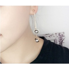 Chic Imitation Pearls Copper With Imitation Pearl Ladies' Fashion Earrings