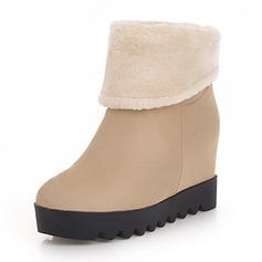 Kvinnor Mocka Kilklack Stövlar Boots skor