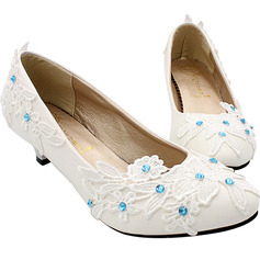 Women's Leatherette Beach Wedding Shoes With Applique