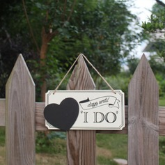 """I Do"" Wooden Wedding Sign"