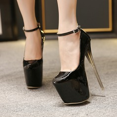 Women's Stiletto Heel Pumps Platform Closed Toe With Buckle shoes