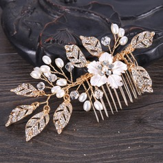 Elegant Alloy Combs & Barrettes With Venetian Pearl
