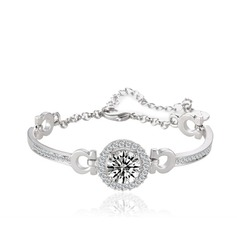 Shining Alloy/Cubic Zirconia Ladies' Bracelets