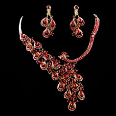 Luxurious Alloy/Rhinestones Ladies' Jewelry Sets