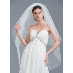 Two-tier Cut Edge Fingertip Bridal Veils (006109857)
