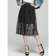 A-Line/Princess Knee-Length Lace Cocktail Dress
