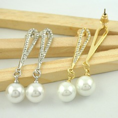 Charming Alloy/Pearl/Rhinestones With Imitation Pearls Ladies' Earrings