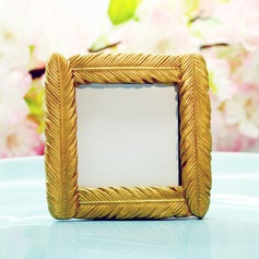 Gold Feather Square Frame