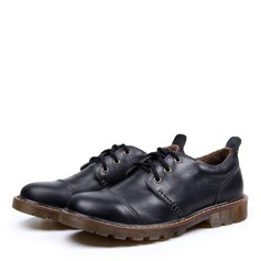 Men's Real Leather Lace-up Casual Work Men's Oxfords