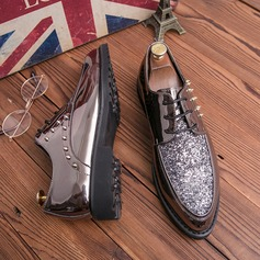 Men's Leatherette Sparkling Glitter Lace-up Casual Dress Shoes Men's Oxfords