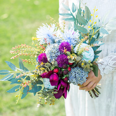 Pretty Artificial Flower Bridal Bouquets (Sold in a single piece) - Bridal Bouquets