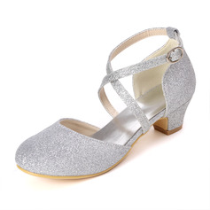 Kids' Sparkling Glitter Low Heel Pumps With Sparkling Glitter