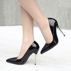 Women's Real Leather Stiletto Heel Pumps Closed Toe shoes (085111221)