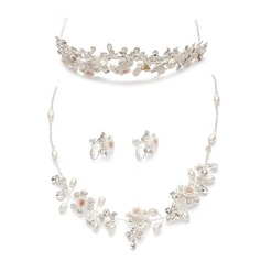 Flower Shaped Alloy/Ceramic Ladies' Jewelry Sets
