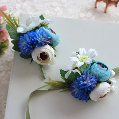 Pretty Cloth/Ribbon Wrist Corsage/Boutonniere