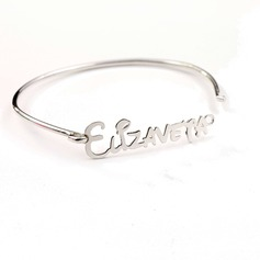 Personalized Ladies' Exquisite 925 Sterling Silver Name Bracelets For Bridesmaid/For Mother