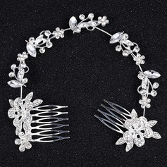 Alloy Combs & Barrettes With Rhinestone (Sold in single piece)