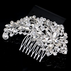 Ladies Beautiful Rhinestone/Alloy Combs & Barrettes With Rhinestone