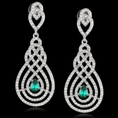 Exquisite Alloy/Crystal With Rhinestone Ladies' Earrings