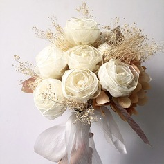 Delicate Round Silk Flower Bridal Bouquets/Bridesmaid Bouquets -