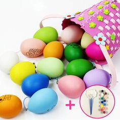 DIY painting eggs educational toys with color  pigment